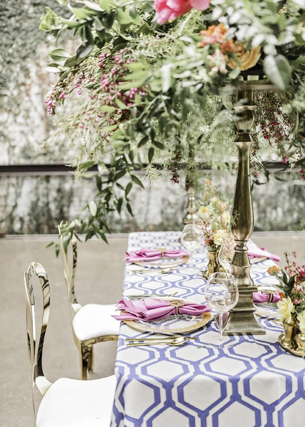 Modern Meets Glamour Wedding Tablescape with Colorful Spring Vibes - Sarah Casile Weddings