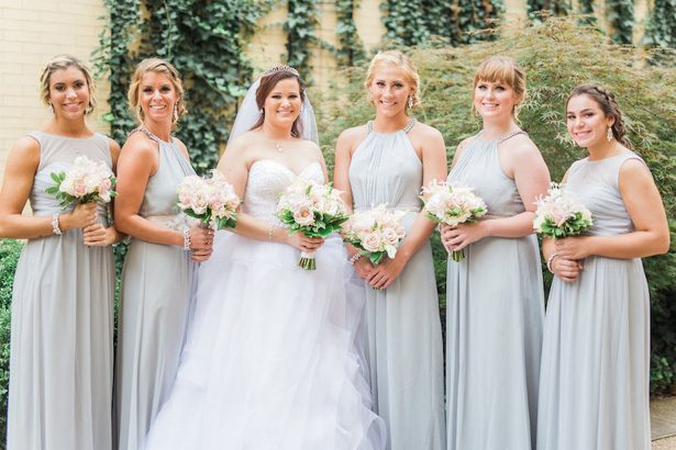 matching garden rose wedding party bouquet - Sarah Nichole Photography