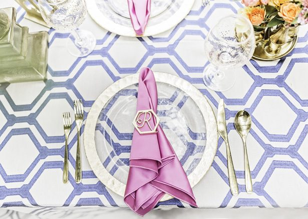 pastel wedding place setting - Sarah Casile Weddings