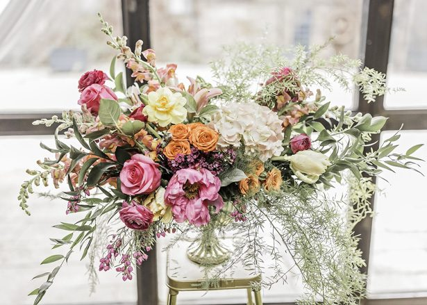 Modern Meets Glamour Wedding Inspiration with Colorful Spring Vibes