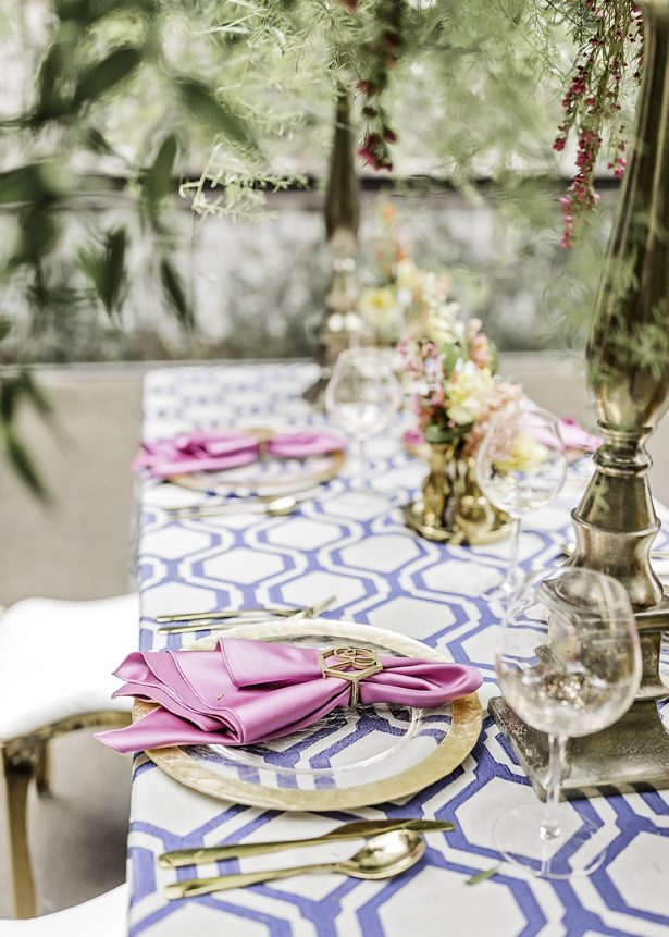 spring wedding table details - Sarah Casile Weddings