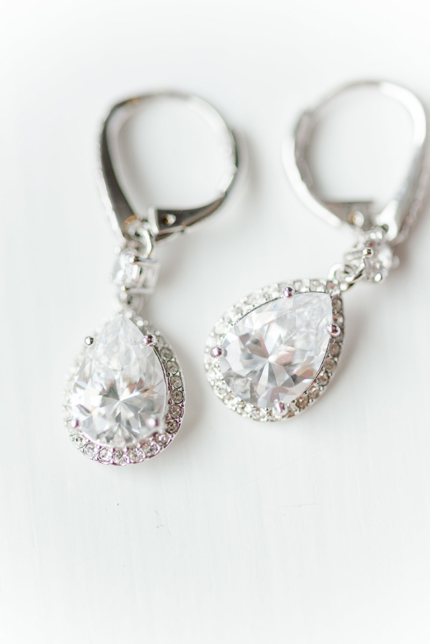 Diamond Wedding earings - Amanda Collins Photography