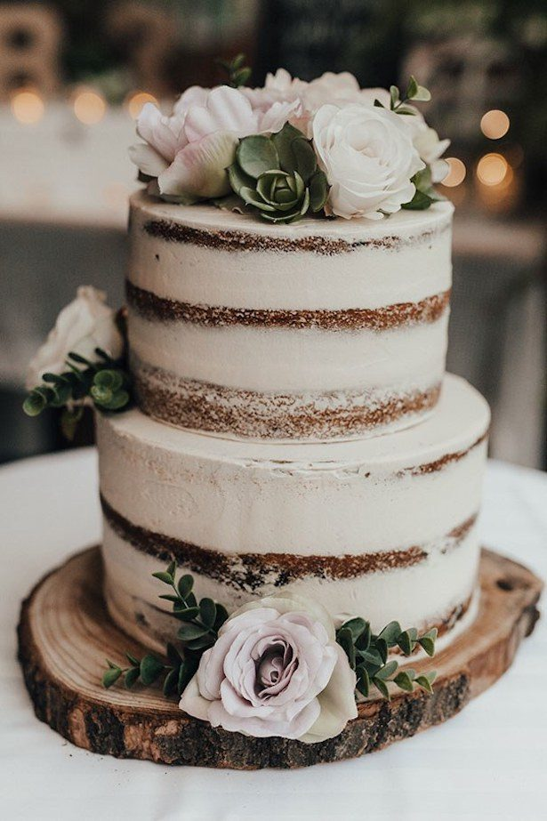 Rustic Chic Wedding - Cake - Photo by Corinna & Dylan