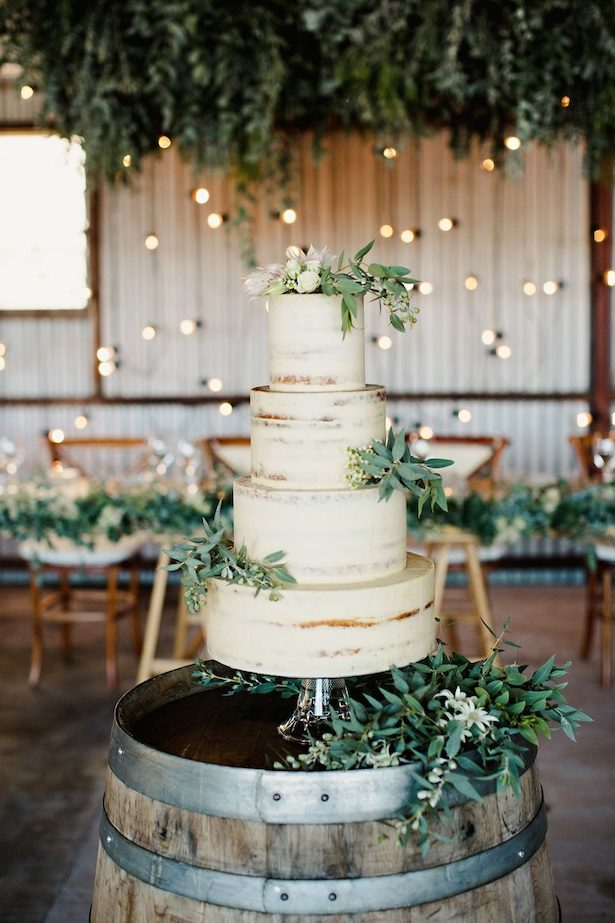 Rustic Wedding Cake - Photo by Teneil Kable