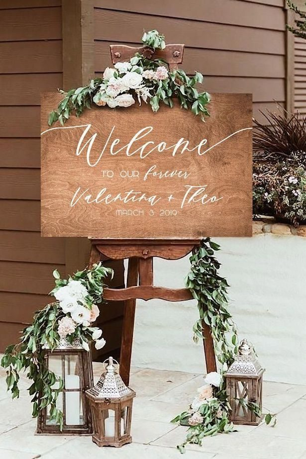 Rustic Chic Wedding Ideas - Sign by Frank and Bunny Love