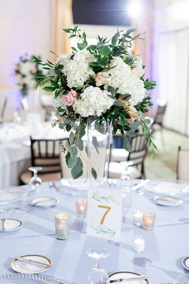 Tall wedding centerpiece - Luke & Ashley Photography