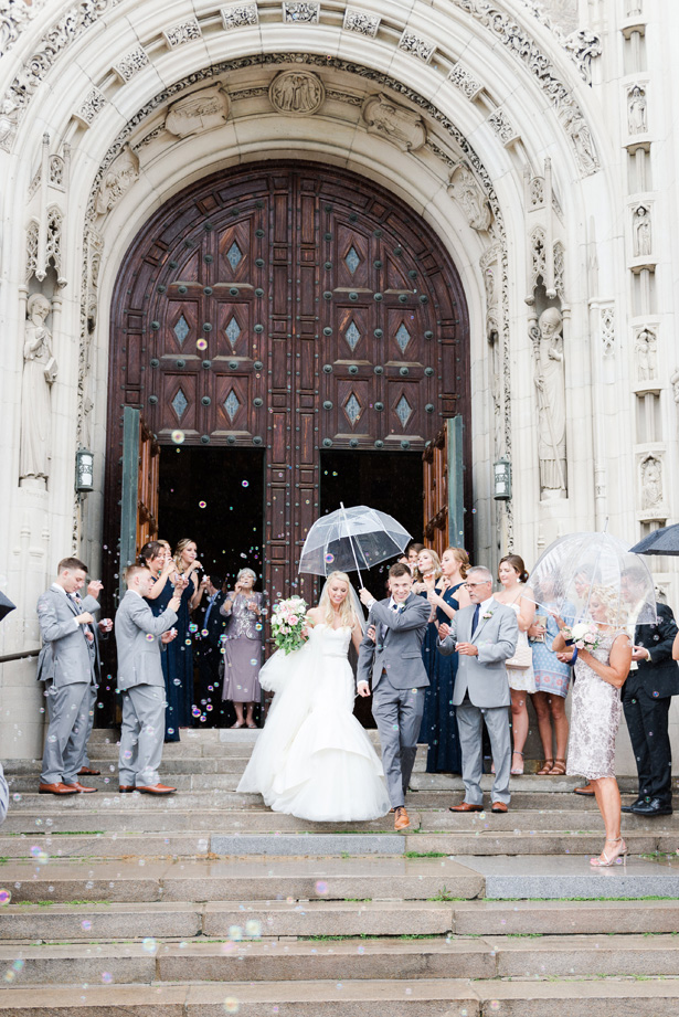 Wedding bubbles and umbrella - Amanda Collins Photography