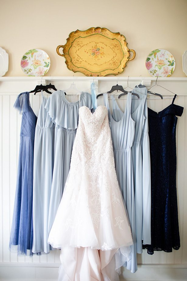 blue bridesmaid dresses - Luke & Ashley Photography