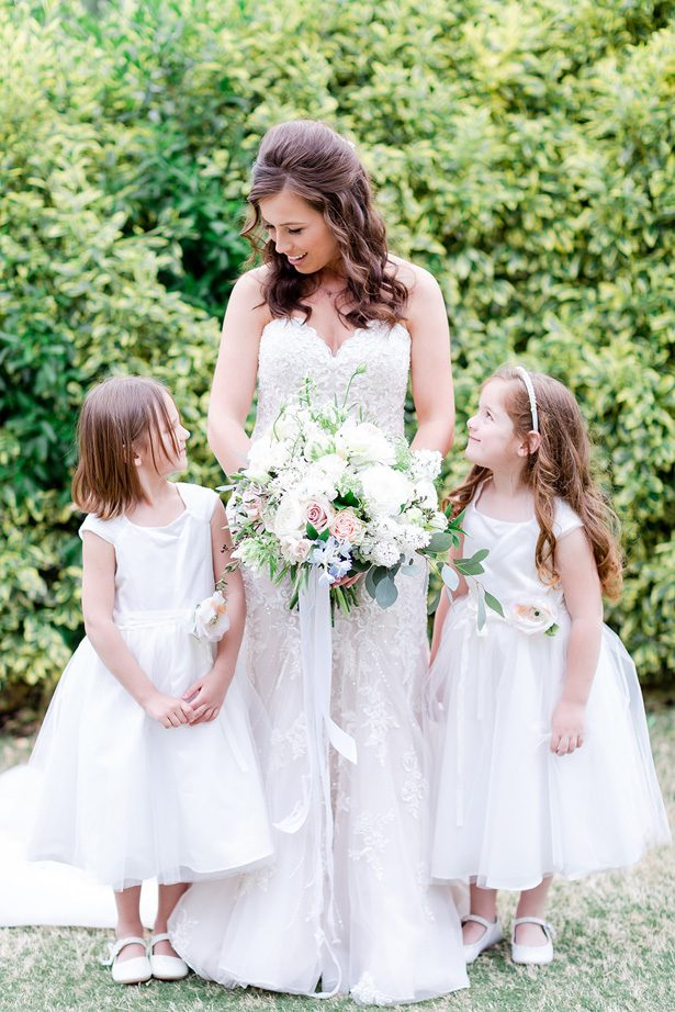 bride and flowergirls - Luke & Ashley Photography