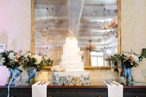 classic white wedding cake - Luke & Ashley Photography