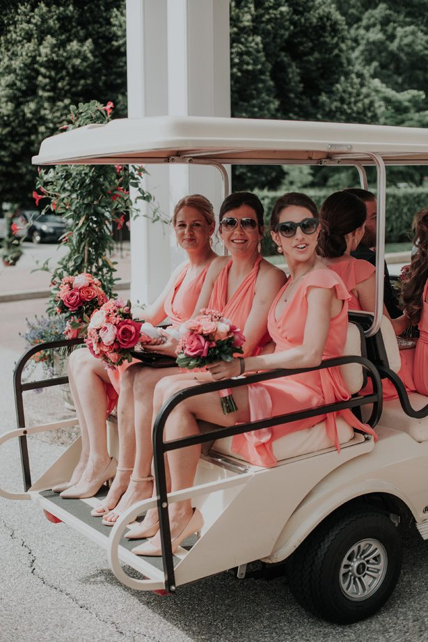 coral bridesmaid dresses - Kelli Wilke Photography