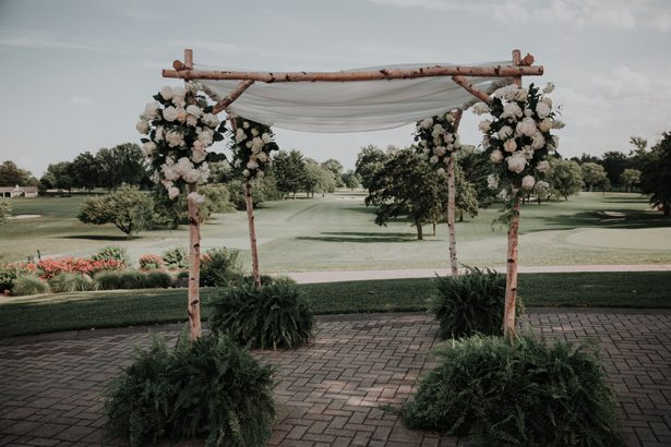 creative wedding canopy - Kelli Wilke Photography