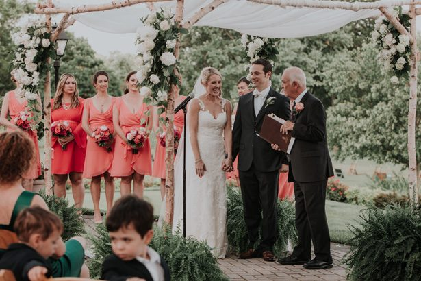 garden wedding ceremony - Kelli Wilke Photography