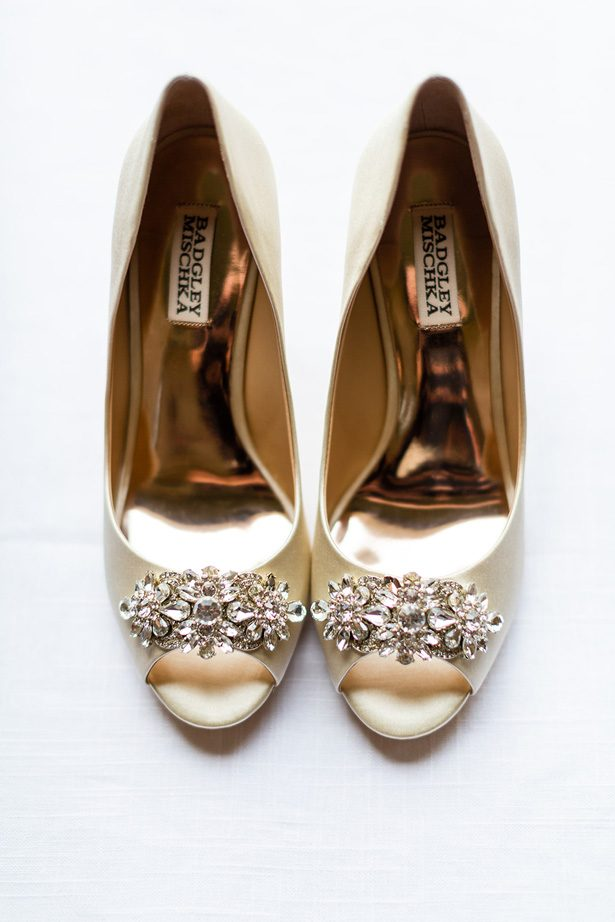 gold wedding shoes - Luke & Ashley Photography