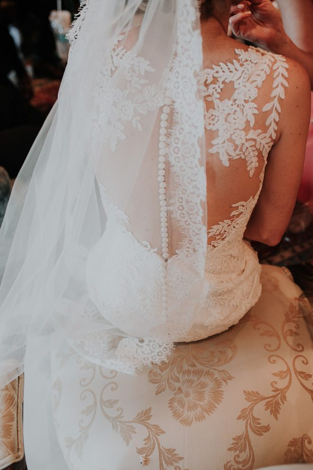 lace wedding back - Kelli Wilke Photography