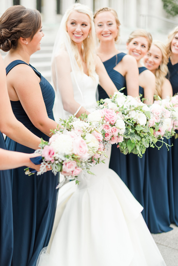 matching bridesmaid dresses - Amanda Collins Photography