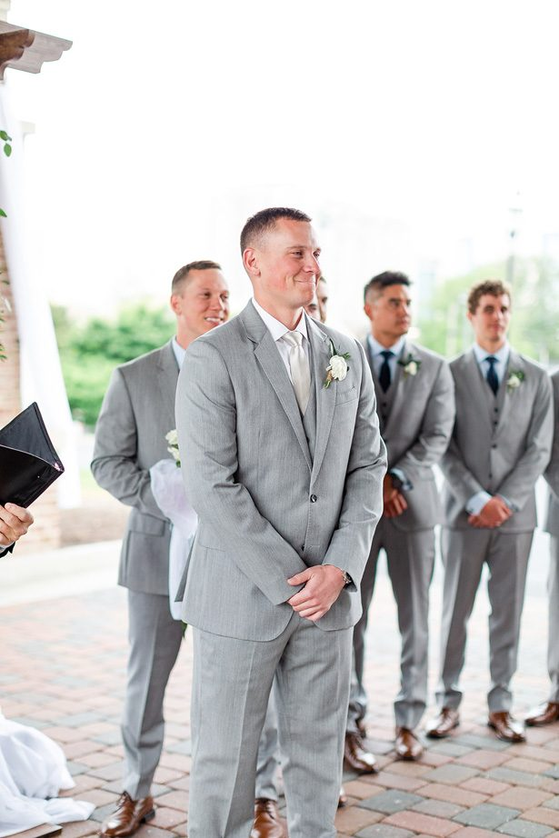 matching groomsman silver suits - Luke & Ashley Photography