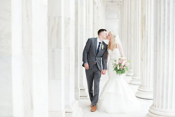 Catch all the Classic Glamour from this Pink and Navy Wedding