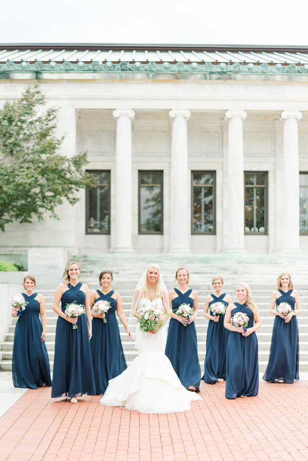 sleeveless navy blue bridesmaid dresses - Amanda Collins Photography