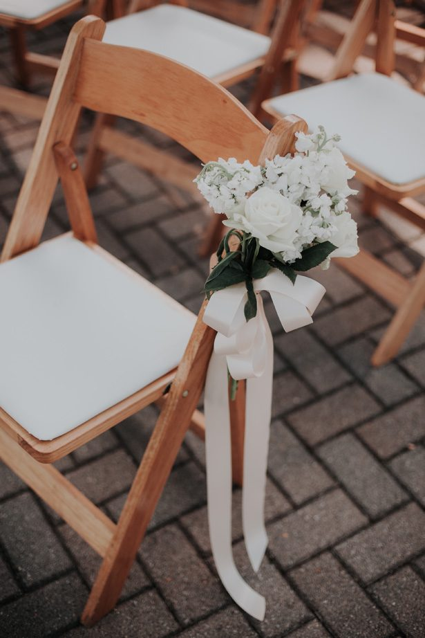 wedding ceremony aisle chair decor - Kelli Wilke Photography