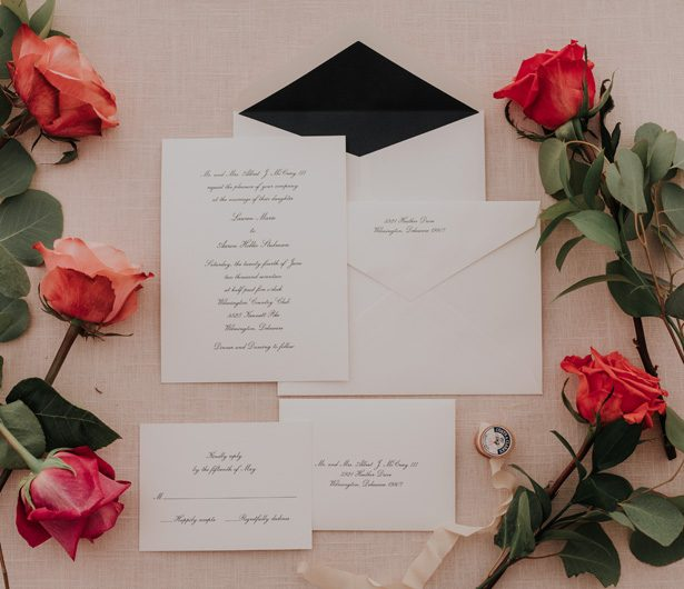 wedding invitation - Kelli Wilke Photography