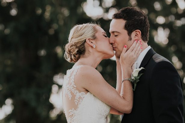 wedding kiss - Kelli Wilke Photography