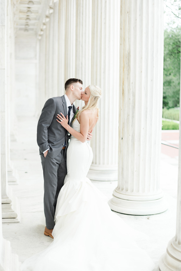 wedding kiss - Amanda Collins Photography