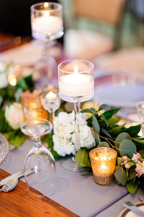 wedding table candles - Luke & Ashley Photography