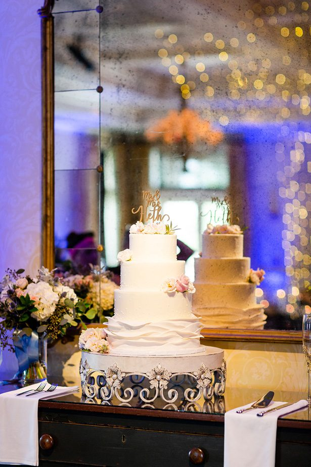 white wedding cake - Luke & Ashley Photography
