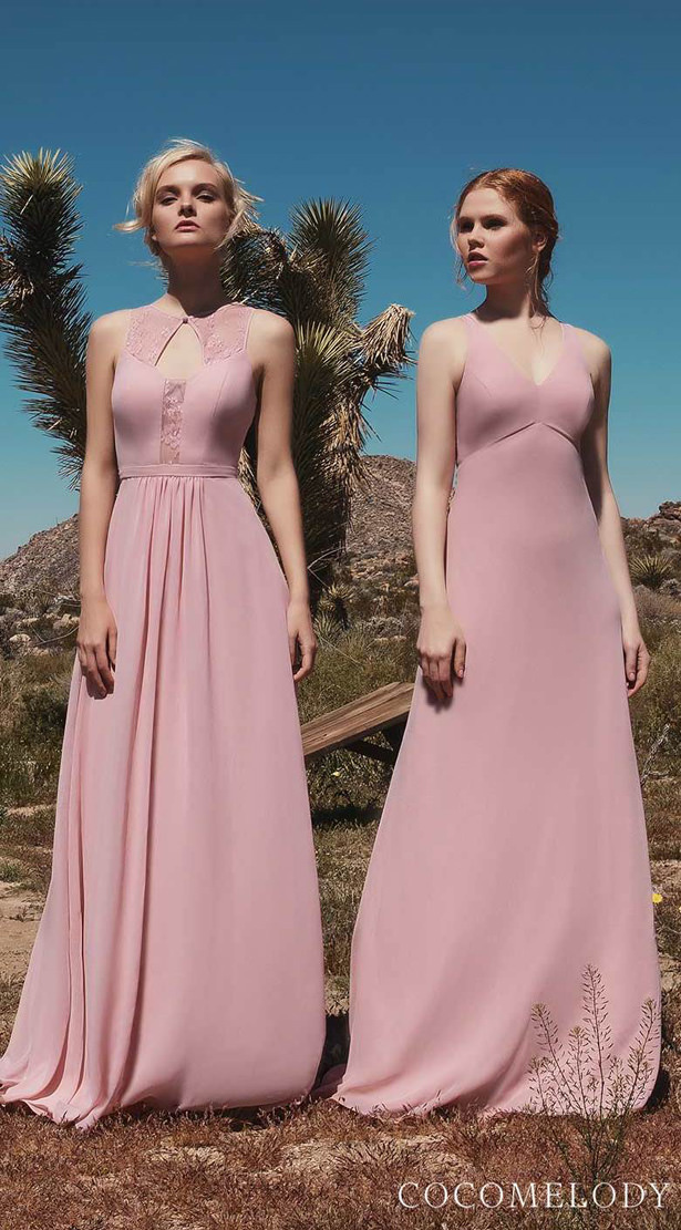 Blush Bridesmaid Dresses by Cocomelody 2020