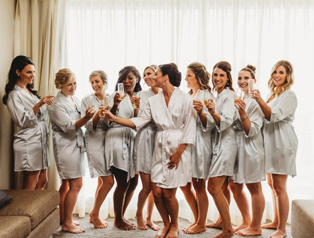 Bridesmaid robes - Mann and Wife Photography