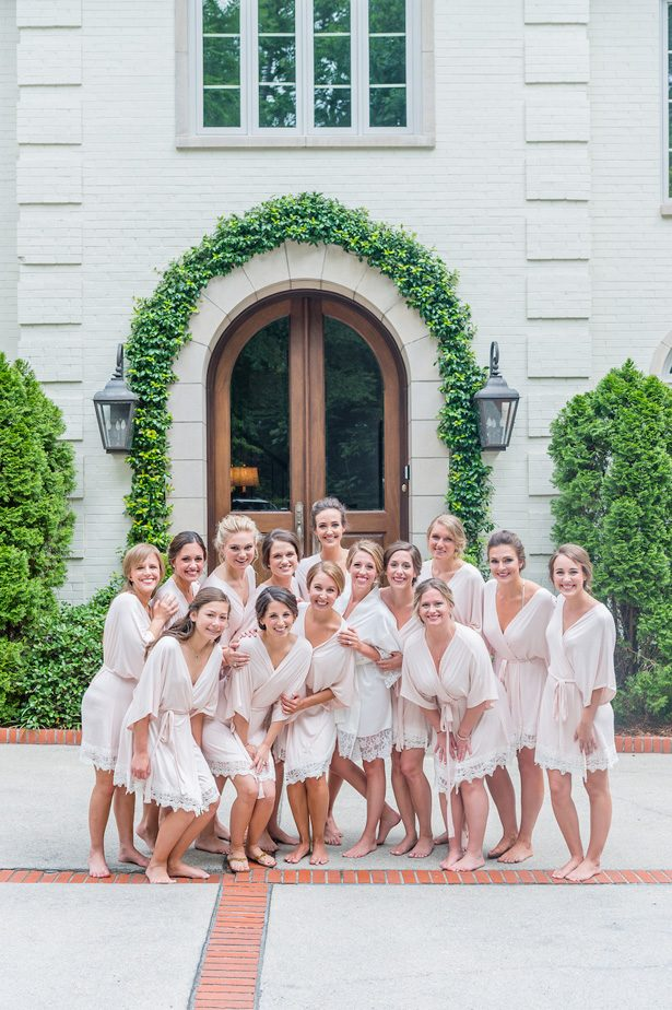 Bridesmaid robes- Heather Durham Photography
