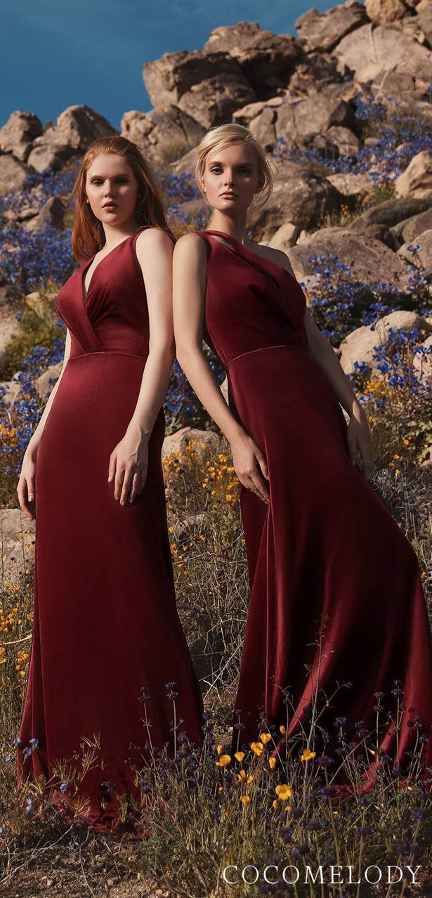 Burgundy Bridesmaid Dresses by Cocomelody 2020