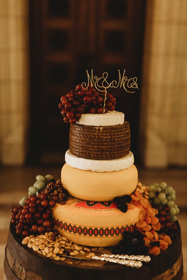 Cheese wedding cake - Mann and Wife Photography