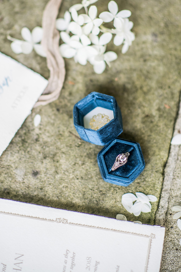Diamond Halo Wedding Ring - Krystal Healy Photography