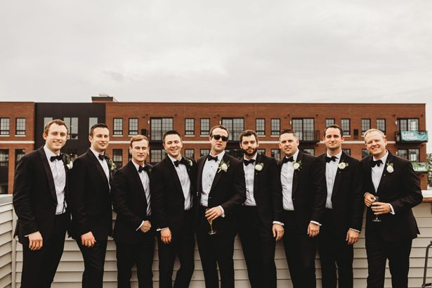 Groomsmen in black classic tuxedos - Mann and Wife Photography