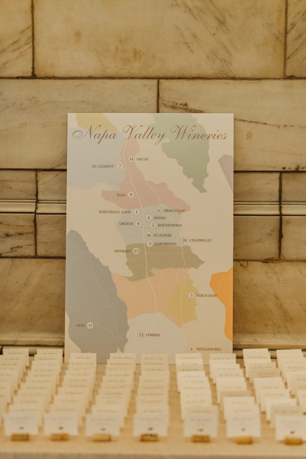 Napa Map wedding sign - Mann and Wife Photography