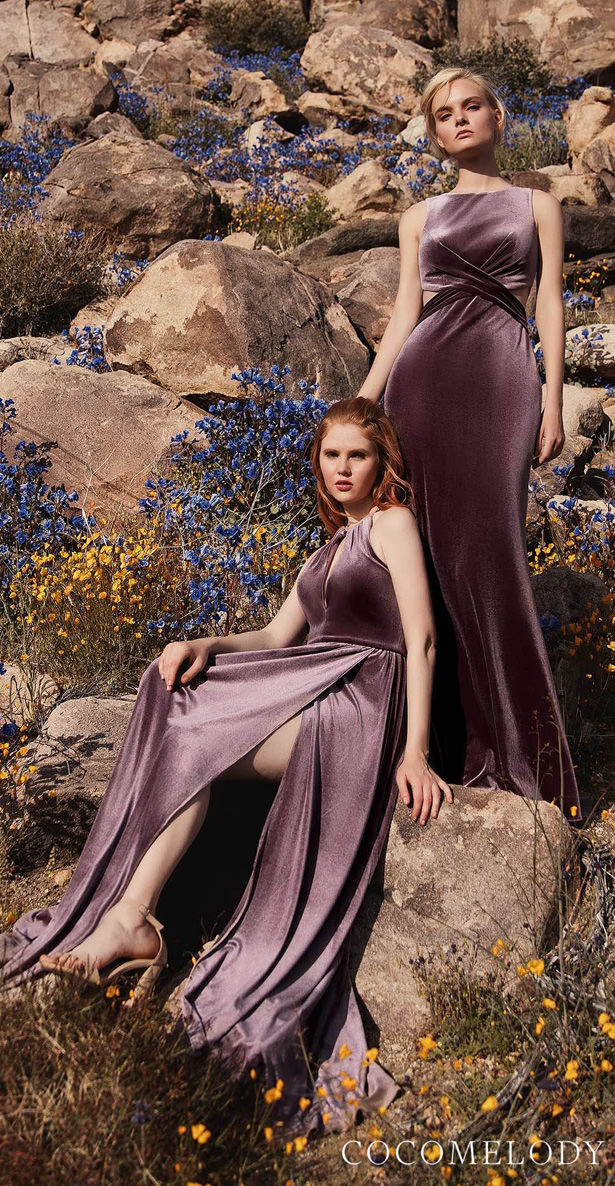 Mauve Bridesmaid Dresses by Cocomelody 2020