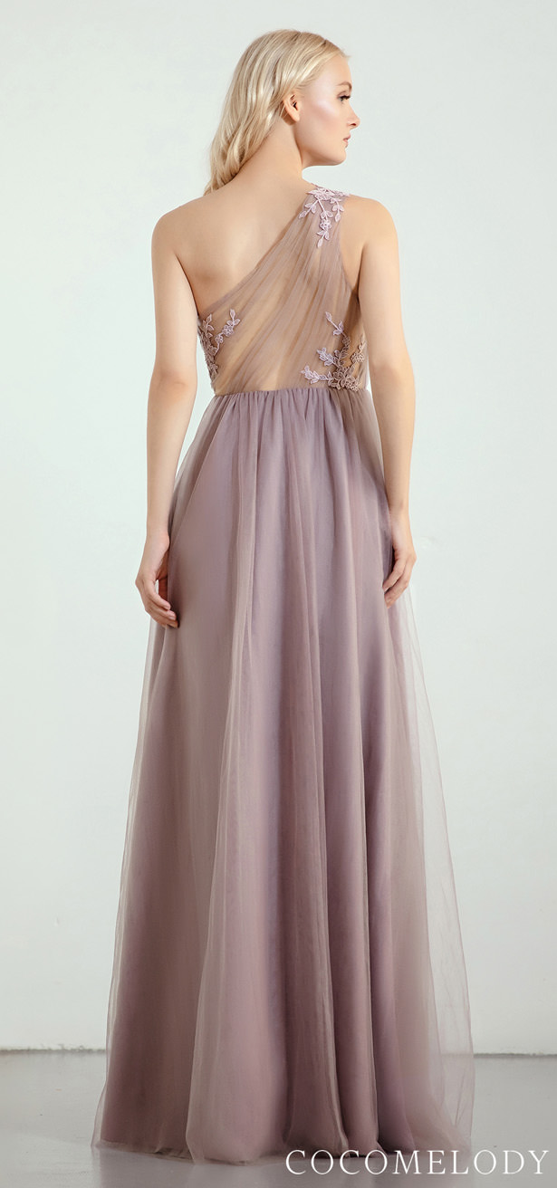 One shoulder Bridesmaid Dress Trends by Cocomelody 2020