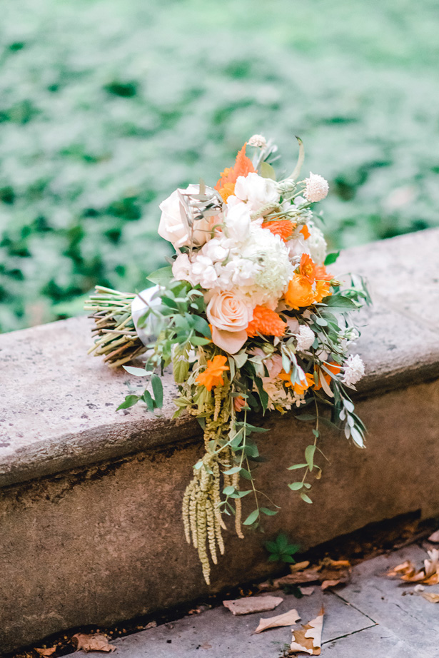 Orange Wedding Bouquet - Krystal Healy Photography