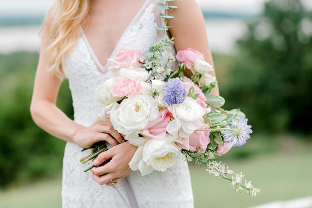 Wild Wedding Bouquet with pastel flowers - Bobbye Jean Photography