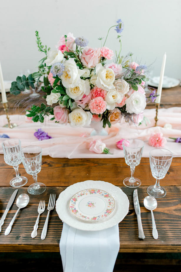 Feminine Pastel Wedding Tablescape for the Romantic Bride - Bobbye Jean Photography
