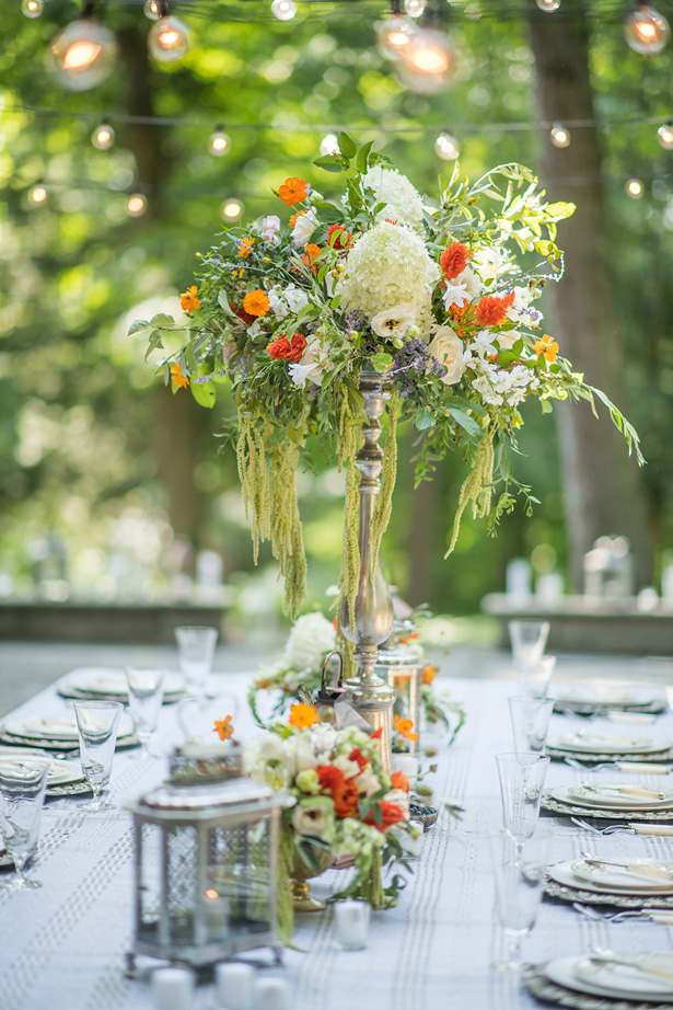 Tall Wedding Centerpiece - Krystal Healy Photography