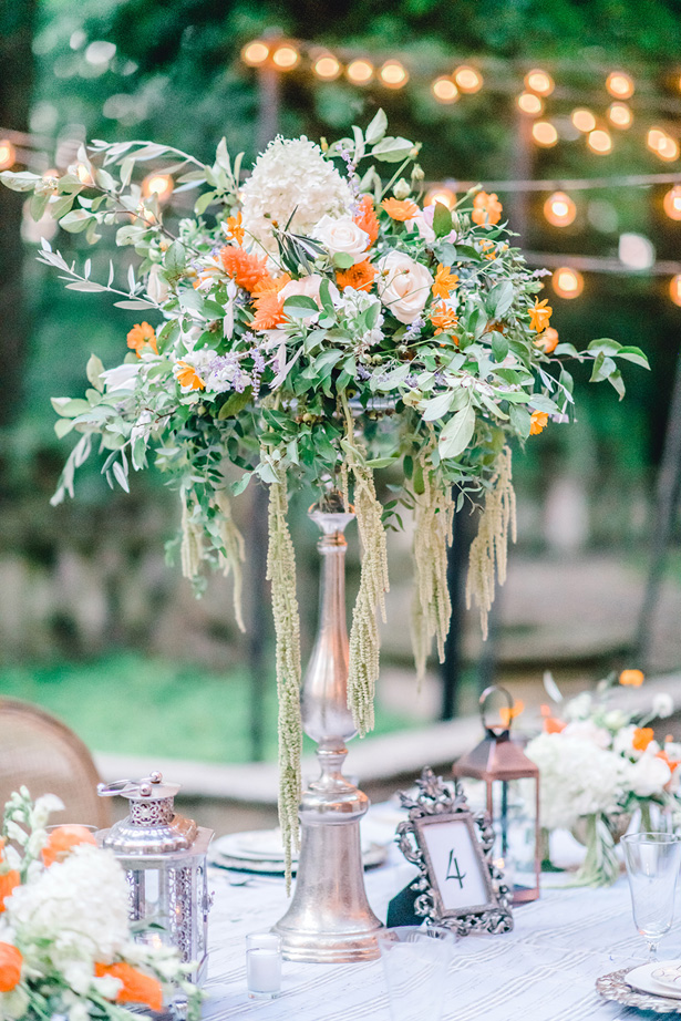Tall Wedding Table Cnterpiece - Krystal Healy Photography