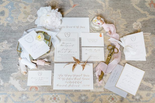 Vintage wedding invitations - Heather Durham Photography
