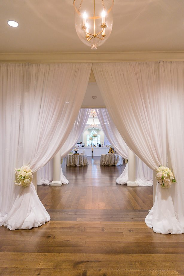 Wedding draping decor - Heather Durham Photography