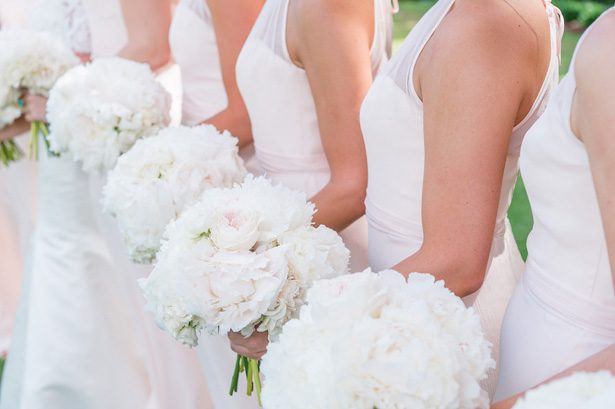 White peonies wedding bouquets- Heather Durham Photography