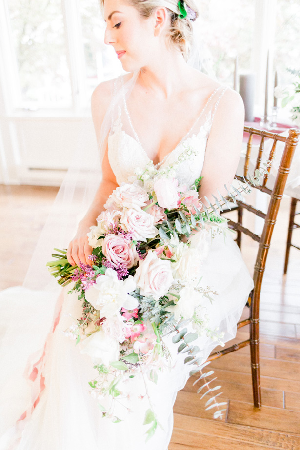 Wild wedding bouquet - Mallory McClure Photography