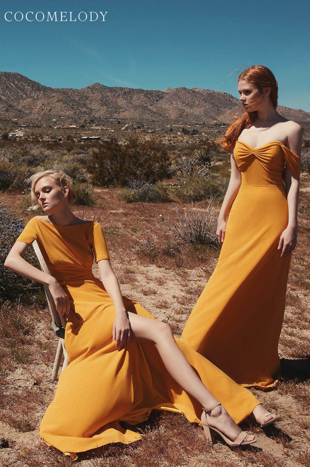 Yellow Bridesmaid Dresses by Cocomelody 2020