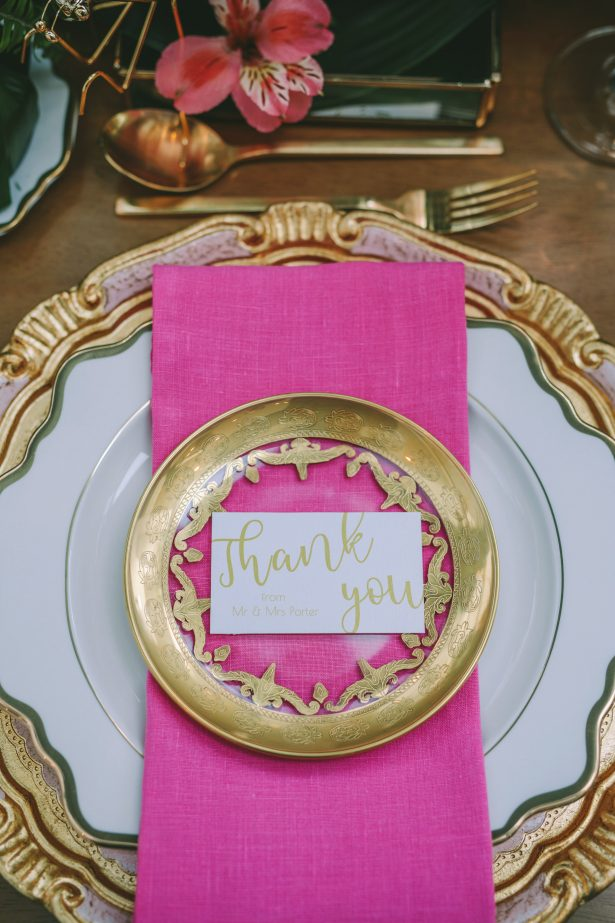 Luxury gold and pink place setting - George Pahountis Photographer